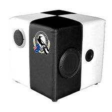 AFL COLLINGWOOD MAGPIES Sound Cube Foot Stool Man Cave Pool Room Christmas Gift