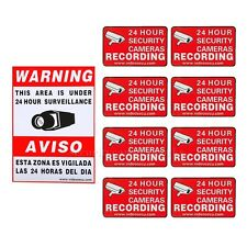 9 Home CCTV Security Camera Video Surveillance Sticker Warning Decal Signs bsp