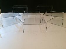 *12 PACK OF*CLEAR ACRYLIC,PERSPEX STANDS,DISPLAY STANDS,PLINTHS
