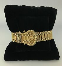 Antique 14K Gold Buckle Belt Bracelet with Wittnauer Watch