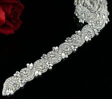 1 Yard Bridal Applique Rhinestone Applique trim Crystal Rhinestone Applique belt