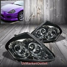 Smoke Housing Dual Halo Projector+DRL Headlight For Mitsubishi 00-05 Eclipse