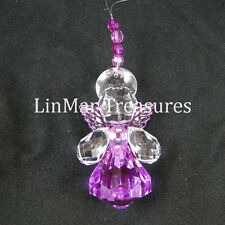 Crystal Expressions Jewel Hope Angel Sun Catcher Ornament by Ganz Purple