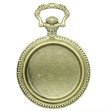 Pocket Watch Pendant Trays -64x45mm -  Fits 33mm - Antique Bronze (Qty x 1)