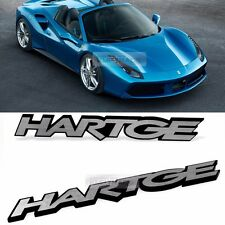 Side Front Trunk HARTGE Hairline Emblem Point Logo Badge 2pcs for All Vehicle