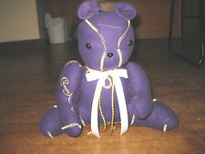 Crown Royal Teddy Bear. Handmade Completely Out Of Crown Royal Bags