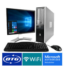 HP Desktop Computer Windows 10 PC Fast Intel Core 2 Duo 8GB 1TB HD 19 LCD WiFi