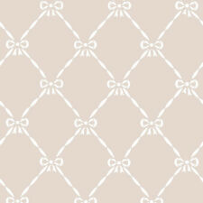 JR3206 - Jack N Rose Junior Beige White Bows Trellis Galerie Wallpaper