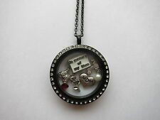 MEMORY OF MOM MOTHER'S DAY SET LIVING MEMORY LOCKET FLOATING CHARMS NECKLACE
