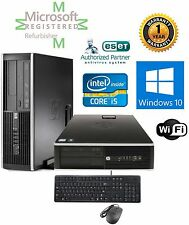 HP ELITE 8100 i5 3.33GHZ WINDOWS 10 Pro 64 16GB RAM 2TB HD SFF COMPUTER Wifi KM