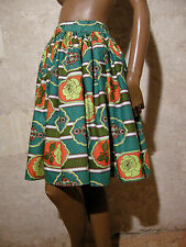 CHIC VINTAGE JUPE COTON ZAZOU 50s VTG SKIRT FIFTIES GONNA ANNI 50 RETRO (36)