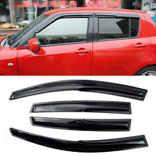 Windows Vent Visors Rain Guard Dark Sun Shield Deflectors For Suzuki Swift