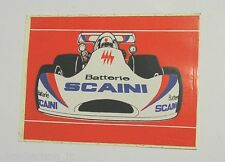 VECCHIO ADESIVO F1 / Old Sticker BATTERIE SCAINI RACING TEAM (cm 11 x 8)