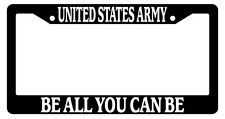Black License Plate Frame United States Army Be All You Can Be Auto Novelty 145