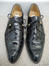 MAURI black genuine alligator lace-up shoes men's size 10