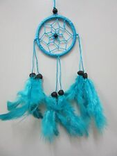 Small Nylon Turquoise Coconut Bead 6cm Web Dream Catcher 32 cm Total Length