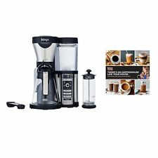 Ninja Glass Coffee Bar Machine w/ Glass Carafe & Frother + 100-Recipe Cook Book