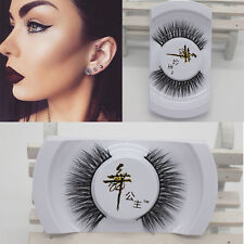 Elegant 100% Black Real Mink Soft Long Thick Makeup Eye Lashes False Eyelashes