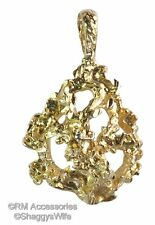 Gold Nugget Charm / Pendant EP Gold Plated Jewelry with a Lifetime Guarantee!