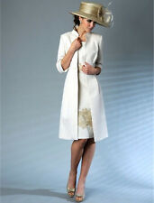 Elegant Mother Of the Bride Dresses With Long Coat Women Formal Wedding Outfits