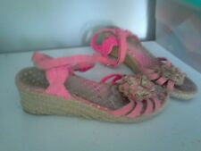 Pink and Floral Wedges size 4