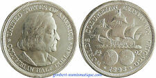 USA  ,  1/2  DOLLAR  ARGENT  COLOMBIAN  EXPOSITION    1893  ,  QUALITE