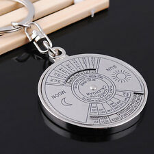 CHROME Super Perpetual Unique Metal Ring 50 Years Perpetual Calendar Key Chain