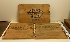 S/3 BLASTING DYNAMITE BOX SIDES NATIONAL FORCITE DRIFTITE EXPLOSIVES MINE MINING