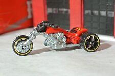 Hot Wheels 2008 - Blastous 3- Wheeler Motorcycle - Red & Chrome - Loose - 1:64