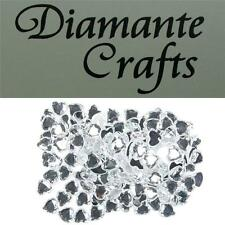 150 x 10mm Clear Diamante Heart Loose Flat Back Rhinestone Craft Embellishments
