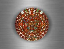 Sticker car biker tuning decal aztec tribal calendar maya mayan mexico bumper A