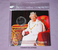 2012 ROYAL MINT DIAMOND JUBILEE BRILLIANT UNC SET COINS - Includes £5 Crown