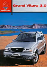 Prospekt 2002 Suzuki Grand Vitara 2.0 12 02 brochure Auto Pkw Japan Autoprospekt