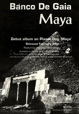 "NEWSPAPER CLIPPING/ADVERT 5/3/94PGN13 ALBUM 7X5"" BANCO DE GAIA : MAYA"