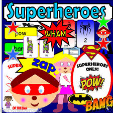 SUPERHEROES Theme Topic Primary teaching resource KS1 EYFS CHILDMINDER Resources
