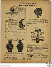 1922 PAPER AD Oil Lamps For Ford Cars Autos Automobiles Kobzy Signals