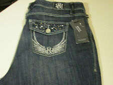 ROCK & REPUBLIC STRETCH BOOTCUT KASANDRA JEANS PLUS SIZE 24W LONG  NWT