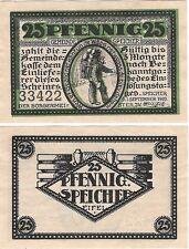 Germany 25 Pfennig 1920 Notgeld Speicher UNC Uncirculated Banknote