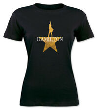 Hamilton American Musical Broadway Women Black t shirt   S -   2XL  Tour