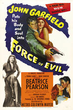 FORCE OF EVIL Movie POSTER 27x40 John Garfield Thomas Gomez Marie Windsor