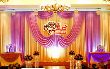 wedding backdrop drape / stage drape decoration/ party background curtains swag