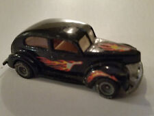 1983 Hot Wheels - 40s Ford 2-Door in Black w/ Flames Goodyear Rubber Tires -3919