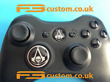 Custom XBOX 360 * ASSASSIN'S CREED black * logo guide bouton et pavé-D * f3custom