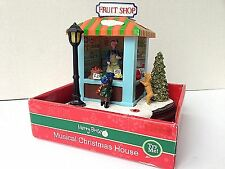 FRUIT SHOP Musical Christmas House By Merry Brite  ~Plays Music w/ lights- NEW