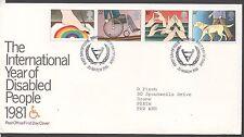 GB 1981 FDC anno internazionale dei disabili WINDSOR TIMBRO TIMBRI