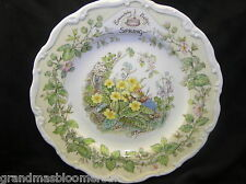 "ROYAL DOULTON BRAMBLY HEDGE 8"" WALL PLATE SPRING 4 SEASONS 1ST QUALITY BEAUTIFUL"