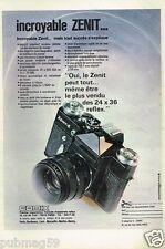 Publicité advertising 1975 Appareil Photo Zenit Comix