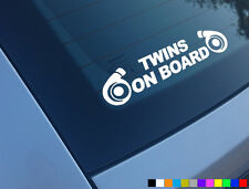 TWINS ON BOARD FUNNY CAR STICKER JAP DRIFT SUPRA JDM 335D TOYOTA NISSAN VW