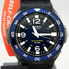 Casio MRW-S310H-2BV Mens Tough Solar Divers Watch Blue 100M WR New Resin Analog