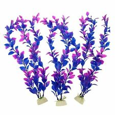 Pawliss Aquarium Decor Fish Tank Decoration Ornament Artificial Plastic Plant Pu